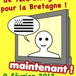 Dans la rue samedi pour une télévision bilingue