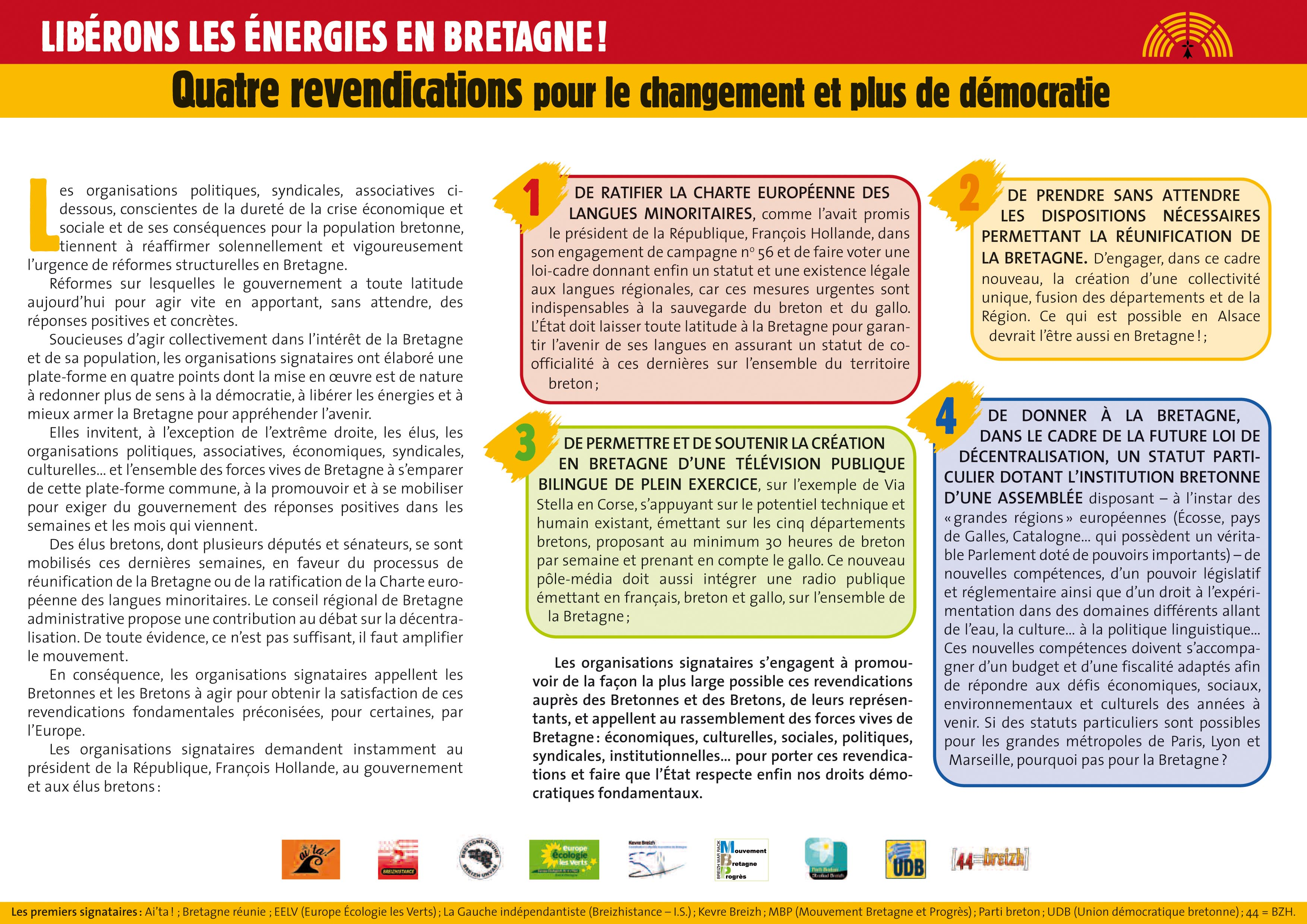 Plateforme pour la Bretagne : l'instrumentalisation politicienne de la droite rennaise.