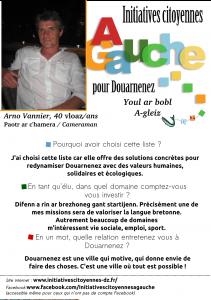 Présentation Arno Vannier @site Initiatives Citoyennes à gauche pour Douarnenez