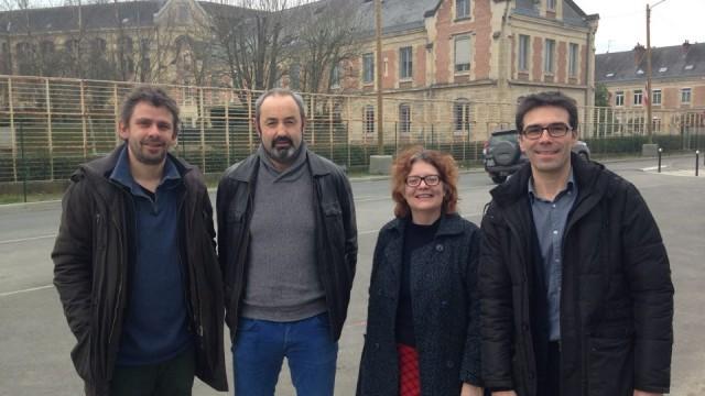 Gael Roblin (Gauche Indépendantiste-Breizhistance), Jean-François Lefort (Bagoaz), Valérie Fauchuex (conseillère municipale à Rennes-FDG), Jerom Bouthier (Skoazell Vreizh)