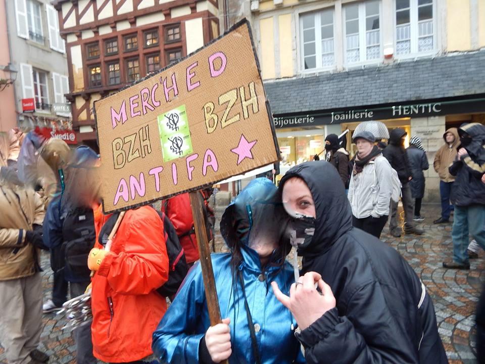 Kemper , antifa , féministes et bretonnes !