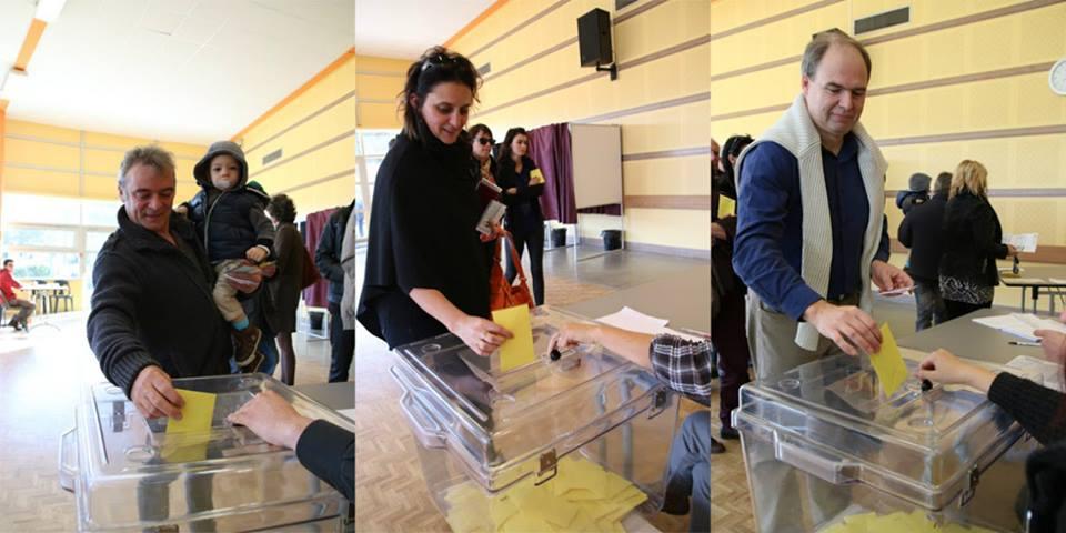 La première votation en faveur de l'unité à St-Viaud (Sud Loire) en novembre 2014.